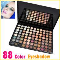Fashion 88 Colors Eye Shadow Earth Warm Color Makeup Cosmetic Eyeshadow Powder Palette Free shipping