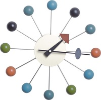 1 piece 14 inch colorful wooden  balls George Nelson wall clock