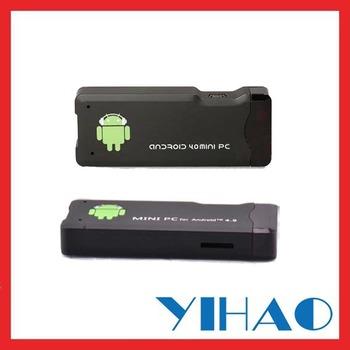 Free shipping Google Android4.0 smart tv box MK802I set top tv box OEM MK802+ mini pc 1080P hdmi media player