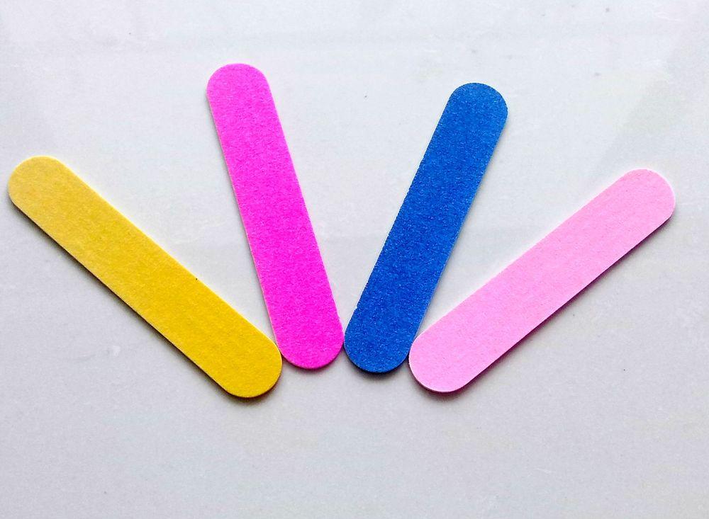 Wholesale short Coloured Environmental Friendly Sanding Mini Nail Files / Polisher / Buffer 8*1.5cm, 10pcs/lot(China (Mainland))