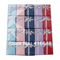Hot Sale 60pcs/lot 4x6x2.5cm Multi color Jewelry Set Box,Ring/Earring/Necklace/Pendant Display Packaging Gift Box Free shipping