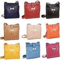 Hot-selling genuine leather cross-body women messenger bag women's handbag leather bag one shoulder cross-body women's handbag