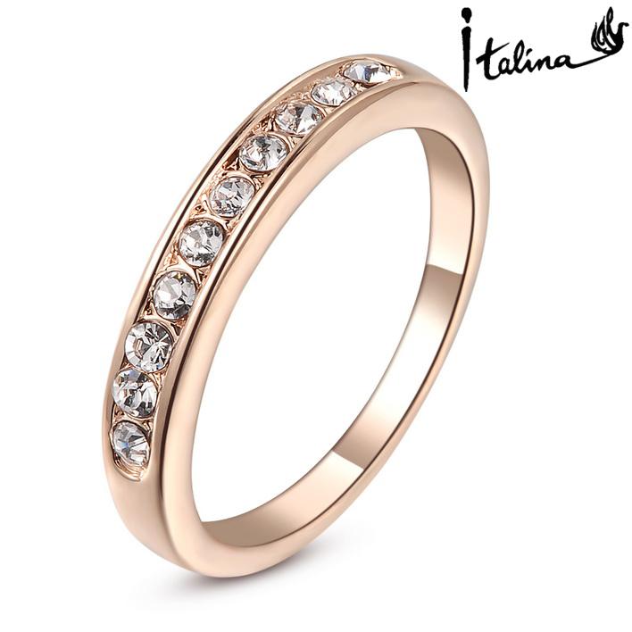 Кольцо Italina Rigant Rigant /crystal Stellux 18KGP #RG91645 ювелирный набор italina rigant 2015 il69 18k crystal