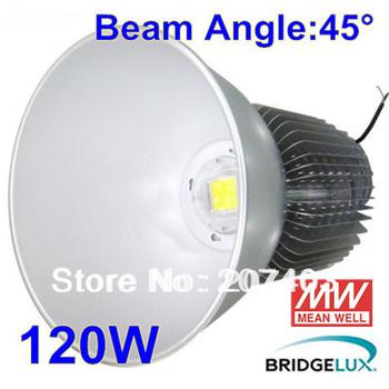 Free shipping 4 pcs/lot 120W LED high bay light 120W Industrial lamp USA Bridgelux weanwell power 3 years warranty  IP65