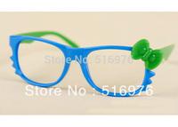 2013 New Fashion Prom Kitty Cat Children Sunglasses Colorful Bows Glasses Frame Cute Children Glasses 20pcs/lot F2051