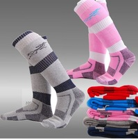 Free Shipping Brand New Unisex Coolmax Professional Skiing Socks Thermal Mens Ski Sock Womens Hiking Camping Socks 5 Colors