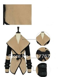 New Arrival Fashion Ladies Turn-down Collar Lapel Belted Coat Women Long Sleeve Jacket M L XL XXL 650445-650448(China (Mainland))