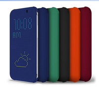 For HTC One M8 case,New Arrive DOT View Case For HTC One M8 Cover With Stylish Matrix Design TPU Flip Soft & Hard Free Shipping