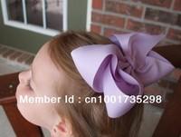 Wholesale 50PCS/lot Free Shipping 4.5''-5'' Handmade Big Hair Ribbon Bows, Boutique Girls Hair Accessories, Baby Hair Bow Clips