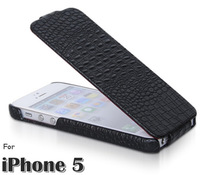 BOROFONE Original Top Quality Crocodile Leather For iphone 5 5S Flip Case Luxury Cover Genuine Leather case For iphone5g