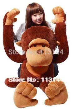 1pcs 42'' /110CM stuffed monkey toy plush monkey Giant monkey stuffed animal Valentine gift for Girls Free shipping