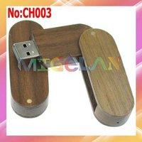 Wholesale 1GB 2GB 4GB 8GB 16GB 32GB 64GB Wooden Rotating 8GB USB Flash Drive for Laptop Computer Free shipping #CH003