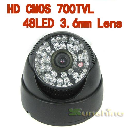 420tvl 48led 3.6len indoor/outdoor visão noturna infravermelho dome câmer