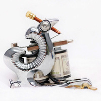 Free shipping Professional New 2013 White Special Design 8 Wrap Coil Tattoo Machine For Liner Shader