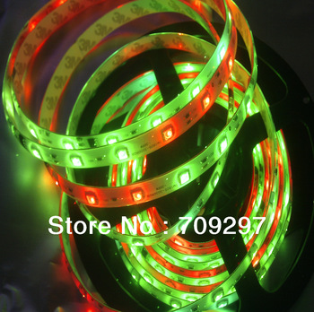 5m 240LED digital RGB strip,1809 IC dream magic color waterproof 12V SMD 5050 RGB Led Strip,48LED/m + free shipping