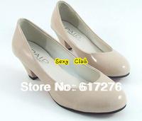 new 2014 women shoes women's pumps Low High Heel shoes girls pumps black ,beige