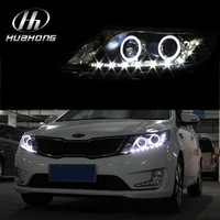 Free shipping 2012-2013 new KIA K2 kia Rio LED HID headlights,headlamps,HID Hernia lamp,LED KIT,auto car products,accessory