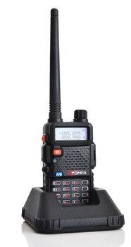 10pcs New TonFa Radio Walkie Talkie 8W 128CH UV-985 Two Way Radio UHF + VHF DTMF Offset Dual Band A1002A Free earphone