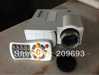 LED HD Portable Home Theater LCD Mini Projector USB VGA SD Built-in Speaker Game Free Shipment