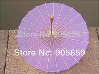 (30 pcs/lot) Handmade 30 Inches Solid Color Bridal Wedding Parasols