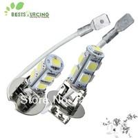 Free shipping 10pcs/lot 12v 1.8W white fog lamps 9 5050 SMD Car led H3 bulbs fog light