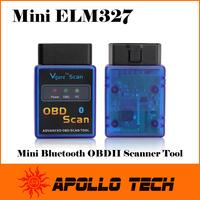 A+ Quality ELM327 V1.5 Mini Bluetooth ELM 327 OBDII OBD-II OBD2 Protocols Mini 327 Auto Diagnostic Scanner Tool + free shipping