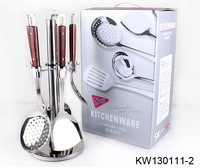 Free shipping, High quality stainless steel kitchenware, 7pcs cooking sets