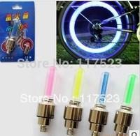 FREE SHIPPING 8PCS Bike Bicycle Cycling Car Tyre Wheel Neon Valve Firefly Spoke LED Light Lamp