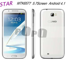 Free shipping STAR N9588 MTK6577 5.7inch Capacitive Screen Smart phon(China (Mainland))