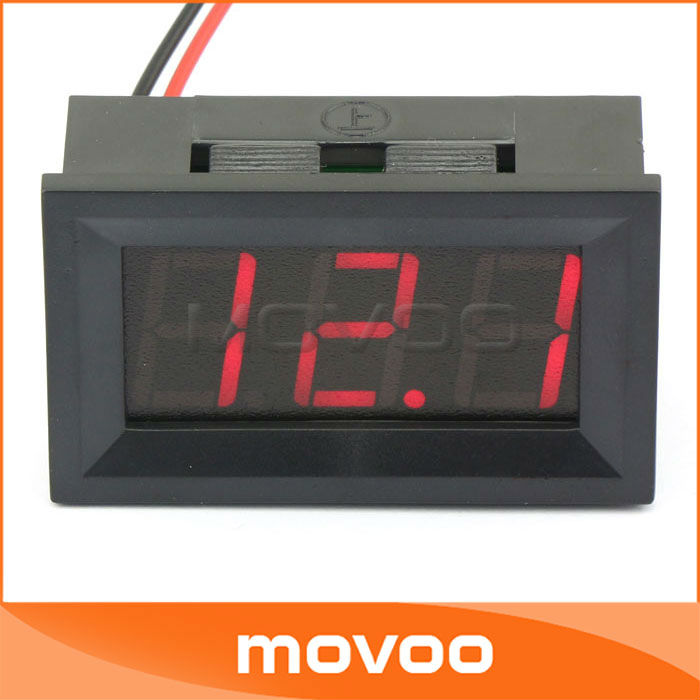 100pcs Red 0.56&quot;4.5-150V Digital DC Voltmeter LED Display 12V/24V Battery Car Motorbike Voltage Meter Electric Tester #090567(China (Mainland))