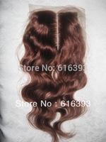 Free Shipping Stock Body Wave Human Hair Lace Closure 4''x4'' Brazilian Virgin  Hair  Lace Top Closure