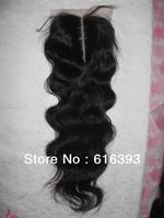 "Free Shipping 18"" Body  Wave Natural Color Peruvian Virgin Hair Lace Top Closure (4"" x 4"") Lace Closures"