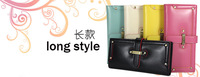 new arrival fashion 5 colors short/middle/long style PU leather women's purses card holder lady wallet (PW03)