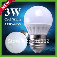 New Arrival 3w ceramic led bulb High lumens 330lm  led light Cool White 200-240V  E27 base led light high quality free shipping