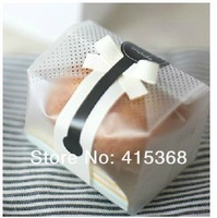 Free shpping!  200pcs 23*8.5*6cm OPP Black Dots Food DIY Bakery Bags with Striated Stand, for Snack/Cookie/Candy Gift