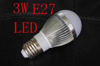 5pcs/lot 85v-260v 3W E27 White LED Light Led Lamp Bulb bubble sphere Spotlight Spot Light Free Shipping(110V 220V))