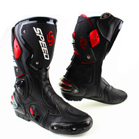 Free ship motorcycle boots SPEED BIKERS Racing Boots,Motocross Boots,Motorbike boots SIZE: 40/41/42/43/44/45 [Black]