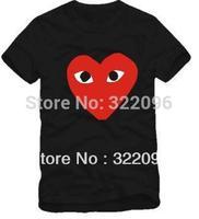 Free Shipping cotton tshirt harajuku tshirts Heart-shaped LADY T-shirt 6 color 100% cotton hot sale