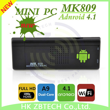 New arrival! Cozyswan MK809 Mini PC RK3066 A9 android tv box 4.1 Stick TV Dongle UG802 II dual core google tv box Free Shipping