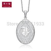 Chow TAI FOOK x LMH Minolium 925 AB38169 Pure Silver Pendants-zdf dz