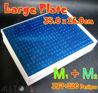 557 Designs M1 + M2 Large Size Konad Design Stamping Image Plate Print Nail Art BIG Template Seal DIY- FedEx&DHL Free Shipping