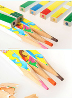 Freeshipping 2010 Shanghai World EXPO Exposition gift souvenir HaiBao cartoon wood colour colored pencil pencils 12 sets P03764