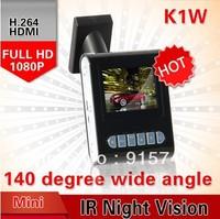 MINI CAR DVR KVD K1W FULL HD1920*1080P/30fps140 degrees wide Angle 1.5inch LCD HK Free Shipping