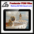 Retina screen, Allwinner A31 Quad core, Freelander PD80 Intelligent version 2G DDR3 16GB Android 4.1 OS.