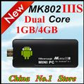 New arrival ! Rikomagic MK802IIIS Mini PC Android 4.1 1GB RAM 4G ROM HDMI Freeshipping
