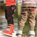 2013 spring 96 digital paragraph boys clothing baby corduroy trousers kz-1132