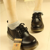 2014 women's low style oxford shoes, leather shoes, thick bottom, vintage, hot and popular, free shipping, TS043