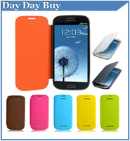 Back Cover Flip Leather Case Battery Housing Case For Samsung Galaxy S3 I9300 Free Screen Protector Stylus Free Shipping