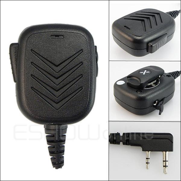 Handheld Speaker Mic for KENWOOD BAOFENG QANSHENG WOUXUN PUXING Radio Walkie talkie transceiver interphone J0156A  Fshow