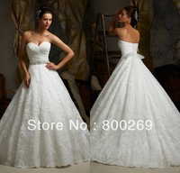 SL-5115 Sweetheart A-line Tulle &Lace with Sash Floor-Length Wedding Dress